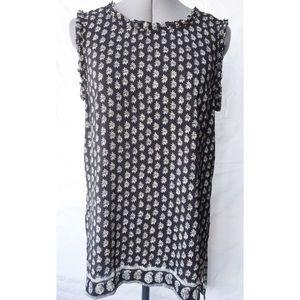 Madewell Silk Bandana Top ~Black~ Size Small